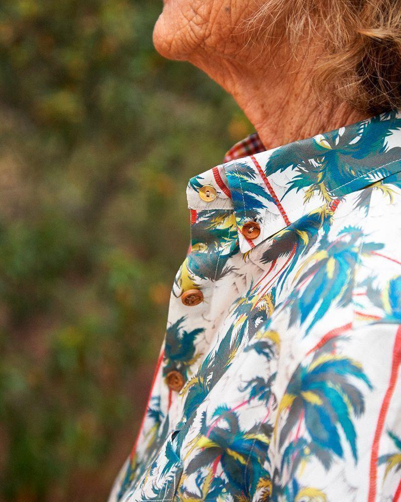 peSeta camisa mujer palms