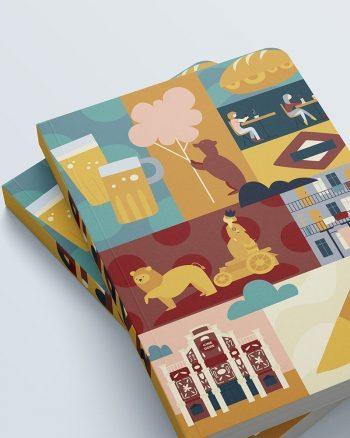 cuaderno grande estampado Madrid