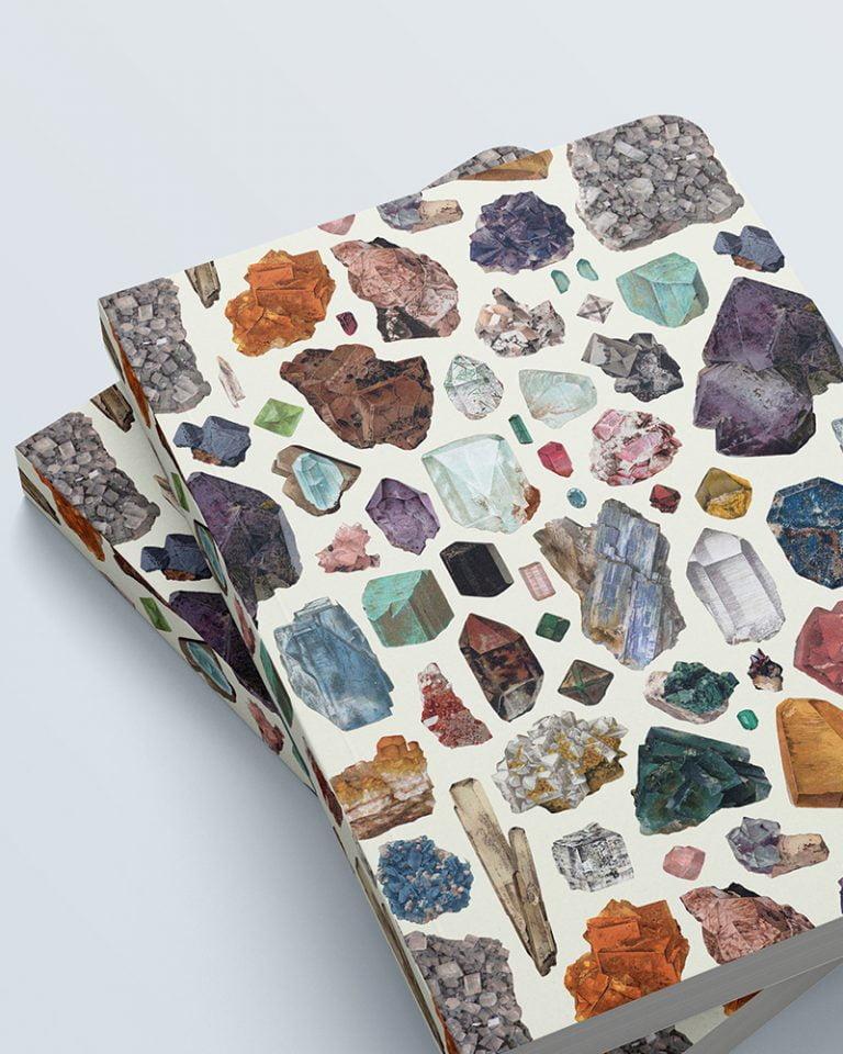 cuaderno grande estampado mineral