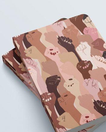 Cuaderno grande estampado pieles