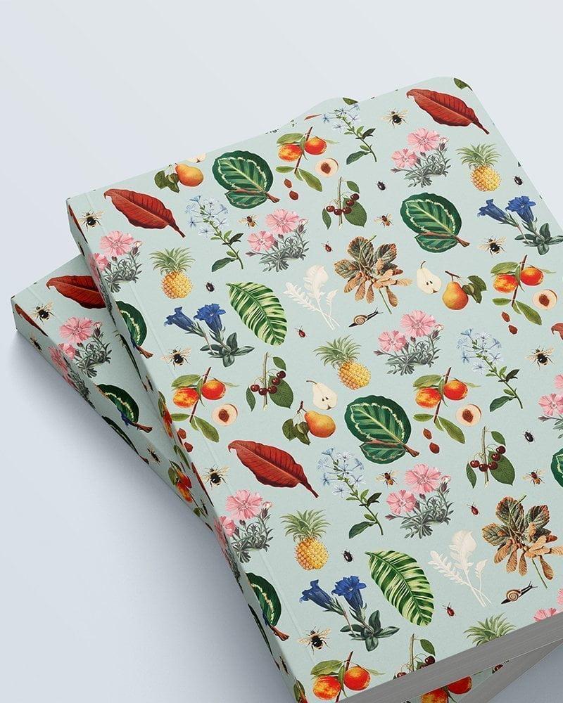 cuaderno grande estampado vegetal