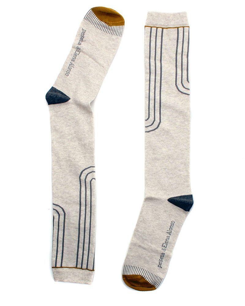 calcetines medias gris originales