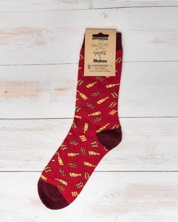 red unisex bottle socks