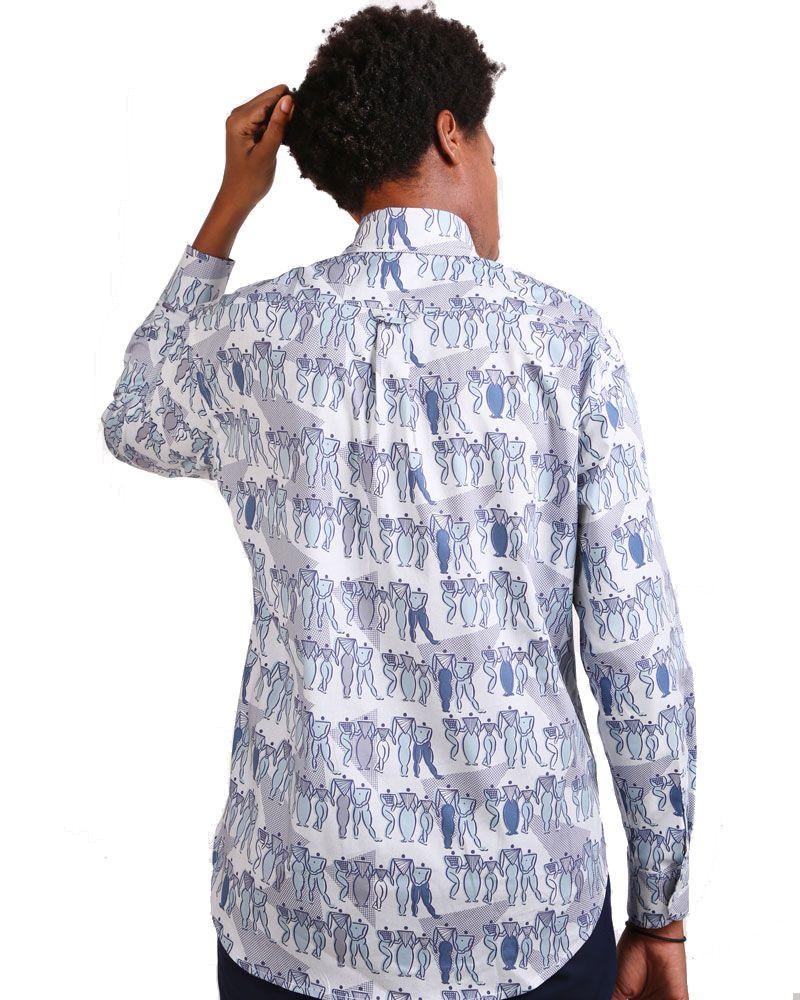 camisa hombre manga larga estampado mujeres feministas