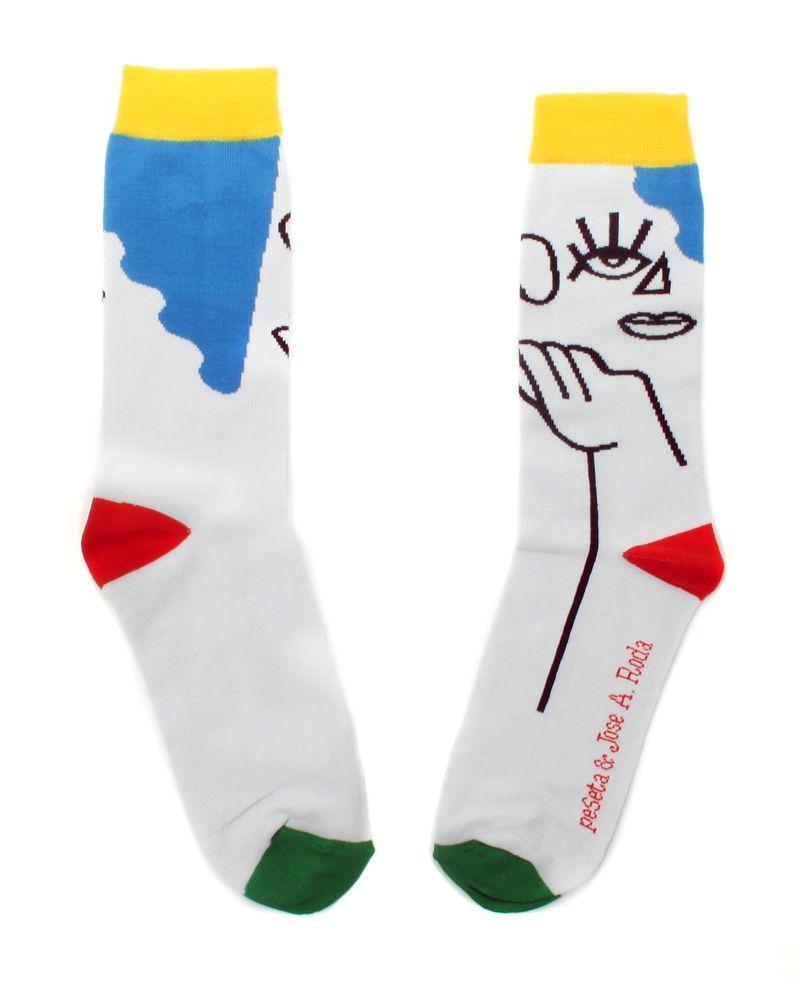 calcetines diseñados por el artista José A. Roda para peSeta