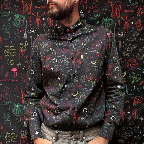 peSeta colaboración Aitor Saraiba colección camisa estampado exclusivo