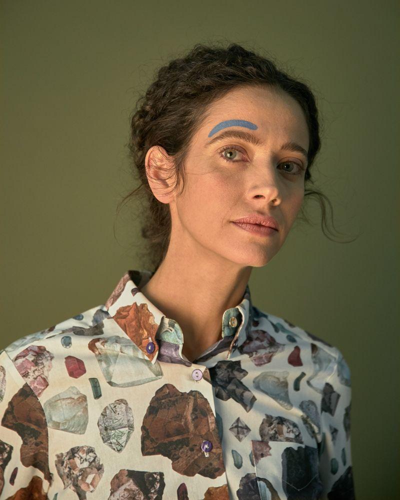 camisa estampada mujer minerales