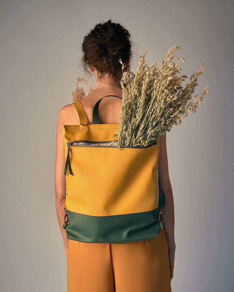 bolso mochila convertible bandolera moda sostenible
