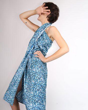 pañuelo azul estampado Marea tamaño XL peSeta