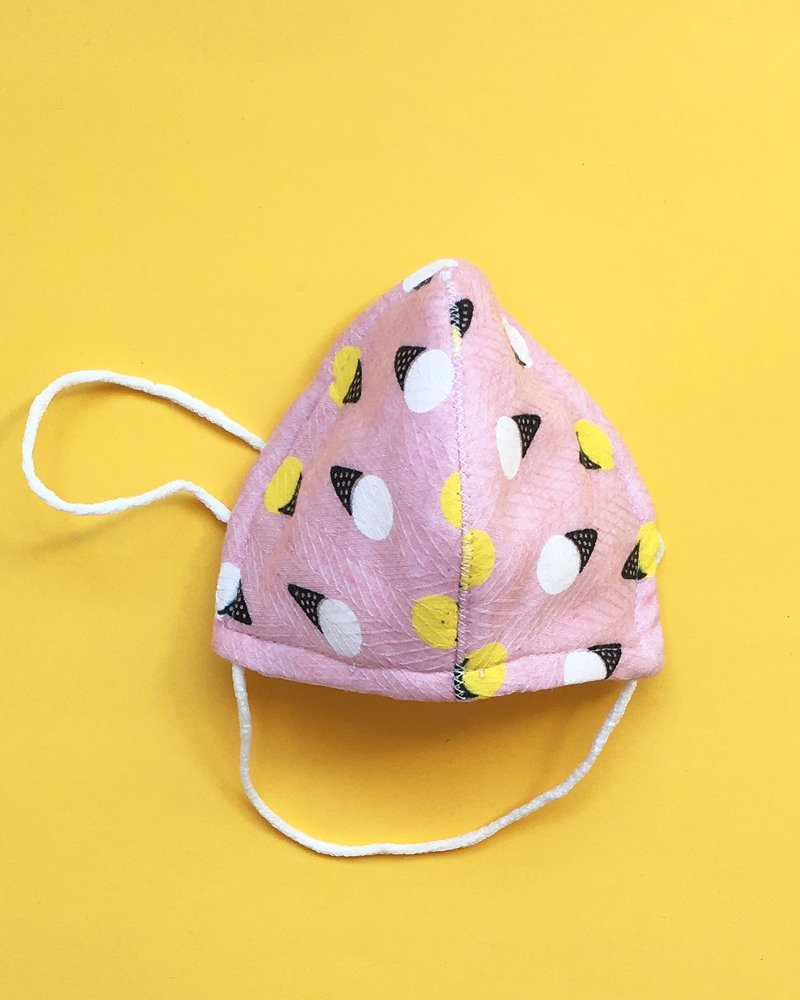mascarillas higiénicas infantiles estampado rosa tela helados estampada para niños