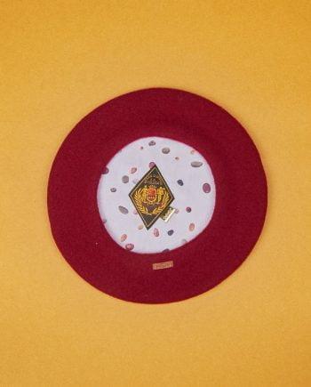boina roja Elósegui con forro estampado