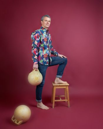 camisa hombre manga larga estampado algas peSeta
