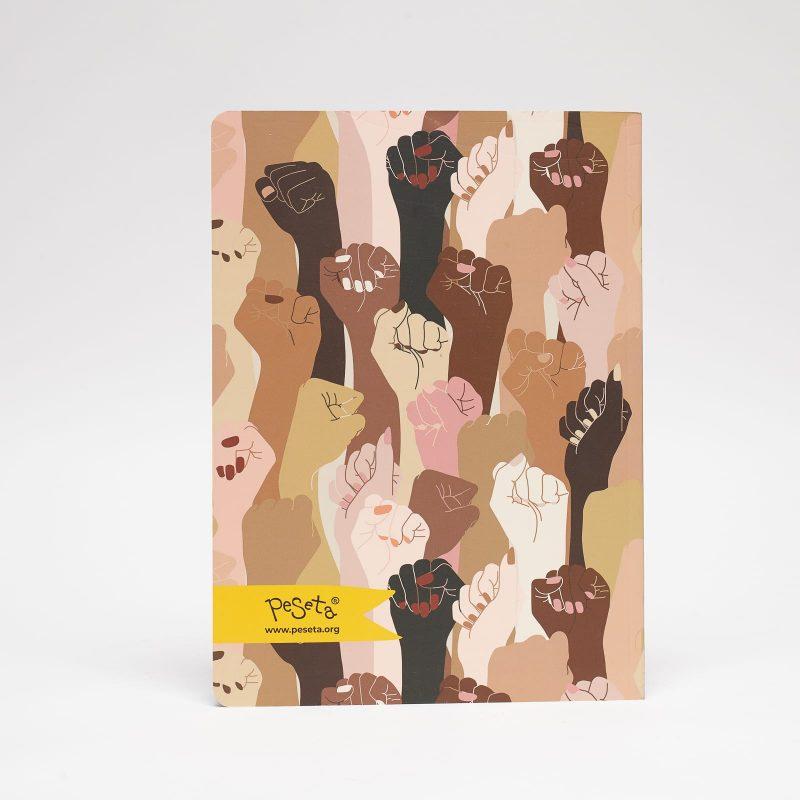 cuaderno grande estampado puños