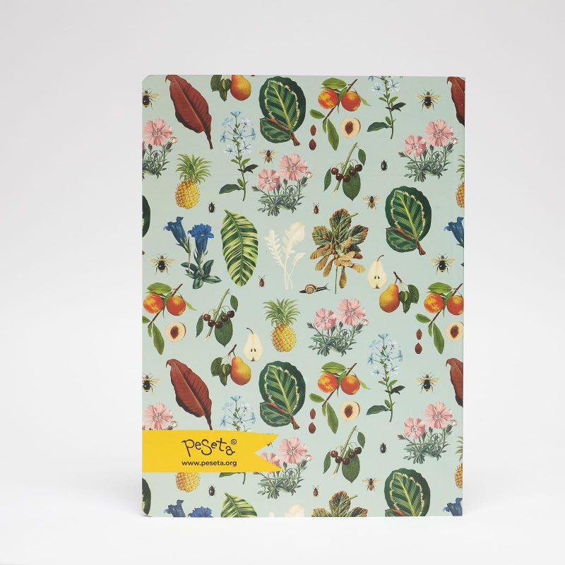 cuaderno grande estampado vegetal peSeta
