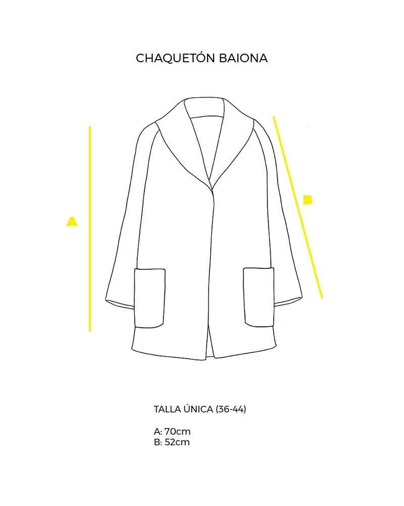 guía de tallas chaquetón talla única Baiona peSeta.