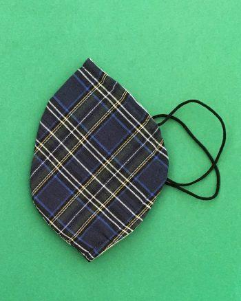 mascarilla estampada cuadro escocés