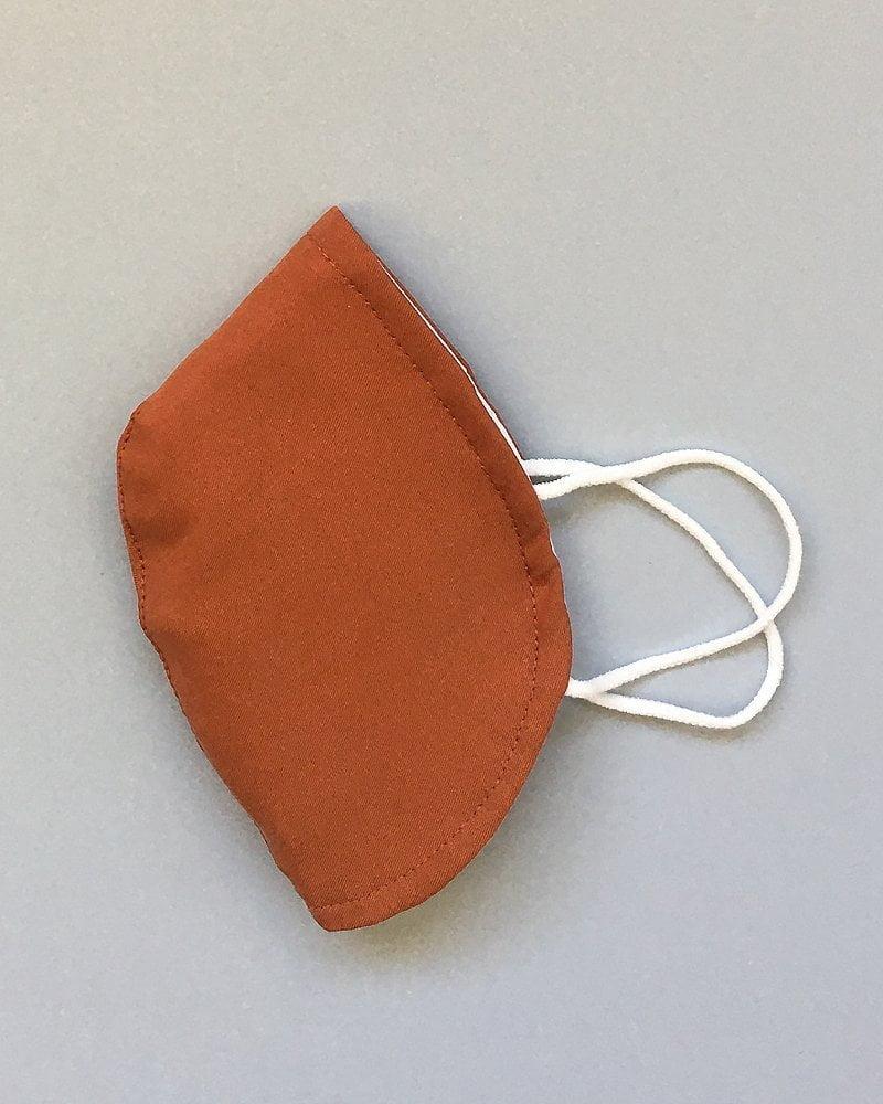 mascarilla tapabocas de tela color teja