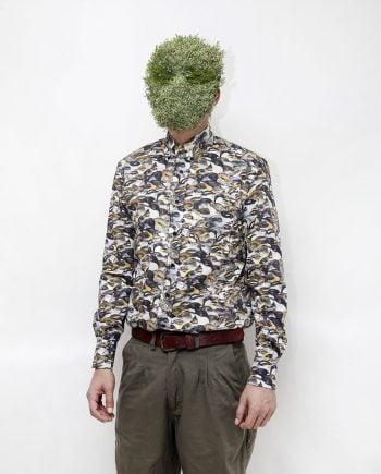 camisa hombre estampado animal