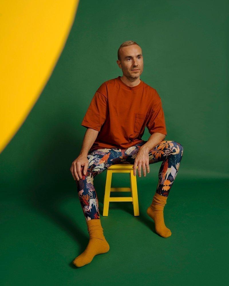 leggings unisex casual fashion cintura doblada estampado multicolor hecho con SEAQUAL®YARN sostenible en España