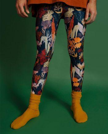 leggins yoga cintura alta y ancha unisex. Moda sostenibe hecho con plástico marino reciclado