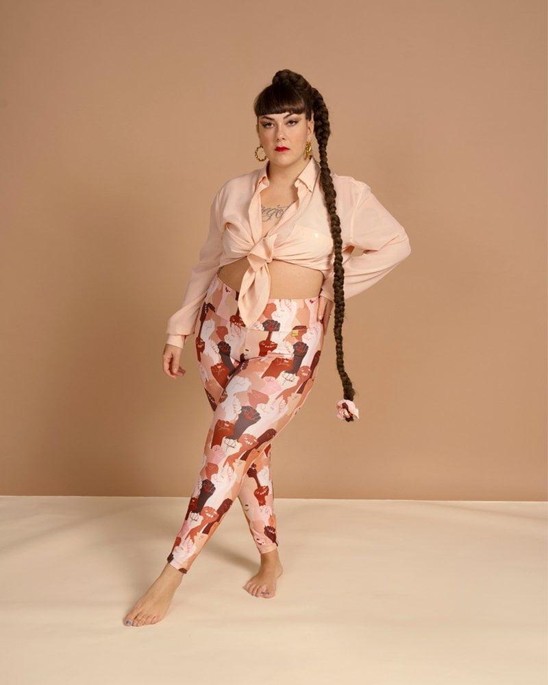 leggins casual fashion cintura alta y ancha unisex. Moda sostenibe hecho con plástico marino reciclado. Lapili